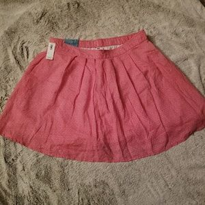 Old Navy red print skirt NWT